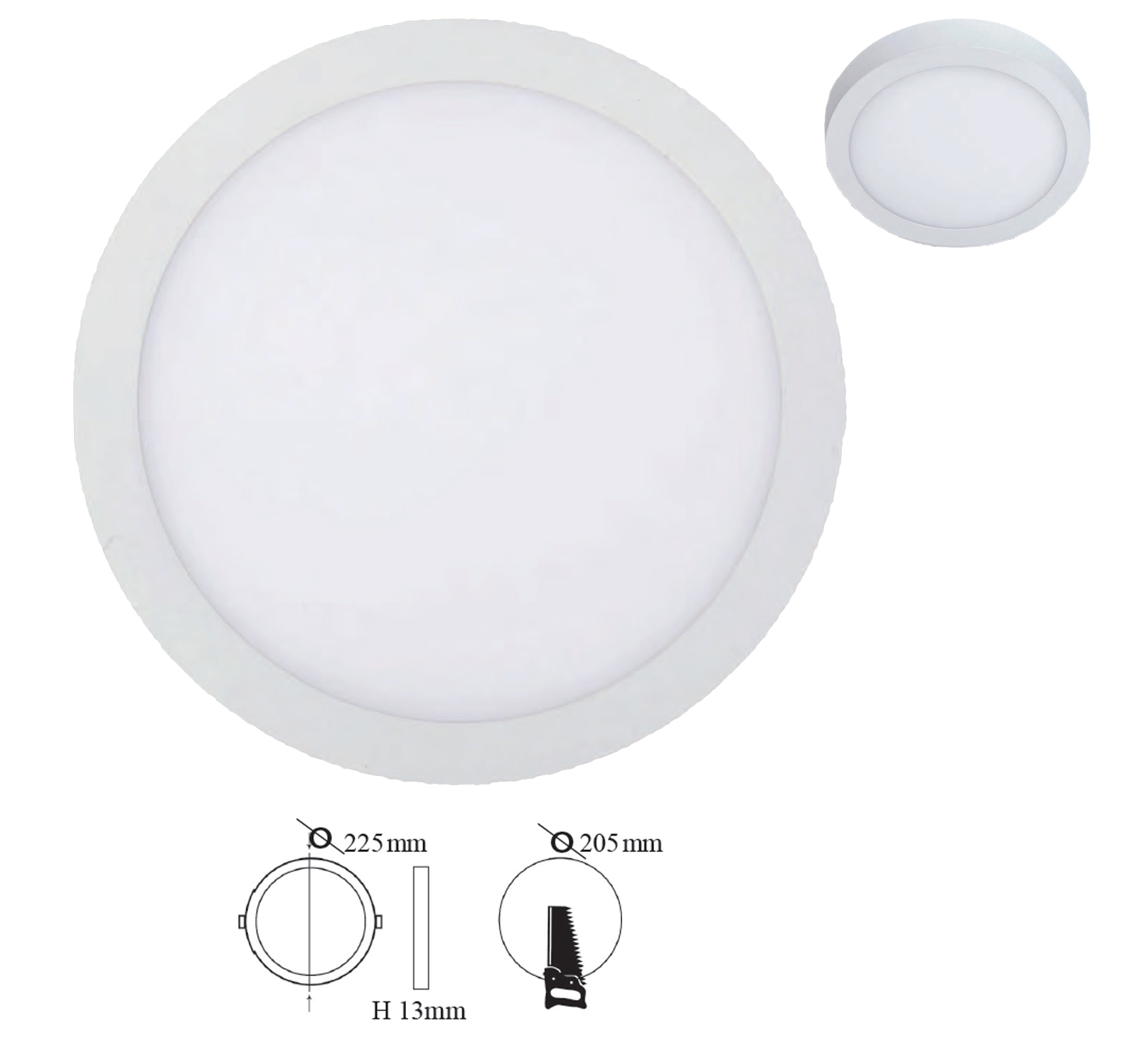 Round Downlight - Surface LED panel
